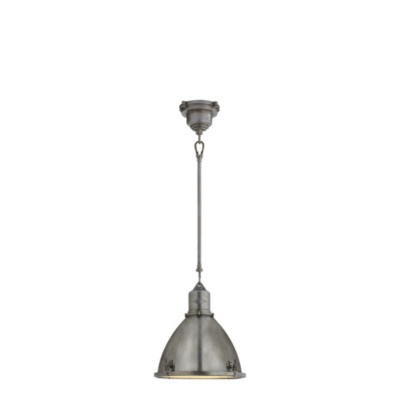 Fulton Small Pendant in Industrial Steel