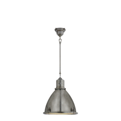 Fulton Medium Pendant in Industrial Steel