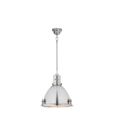 Fulton Medium Pendant in Polished Nickel
