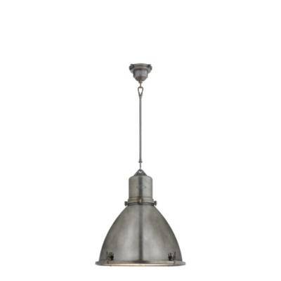 Fulton Large Pendant in Industrial Steel