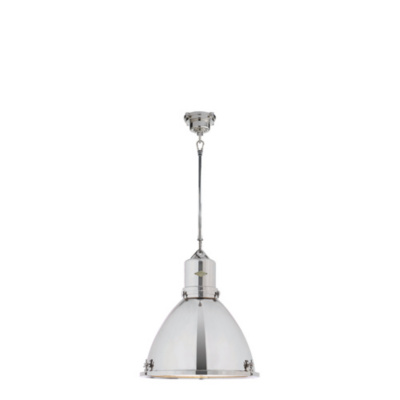 Fulton Large Pendant in Polished Nickel