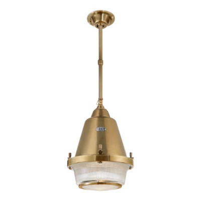 Grant Medium Pendant - Natural Brass