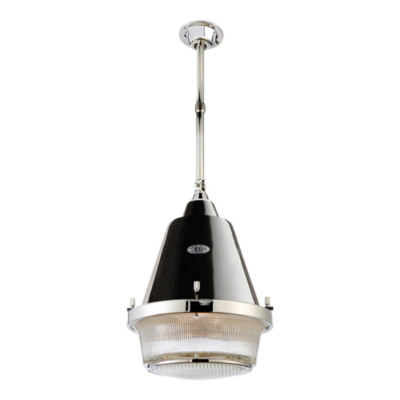Grant Large Pendant - Polished Nickel & Black