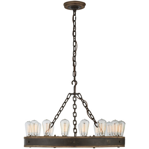 Roark RLH 30 Chandelier In Vintage Oak Ceiling Fixtures Lighting
