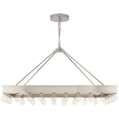 Roark Rectangular Pendant in Polished Nickel