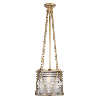 Chatham Small Pendant in Natural Brass