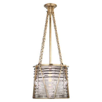 Chatham Large Pendant in Natural Brass