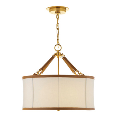 Broomfield Small Pendant in Natural Brass