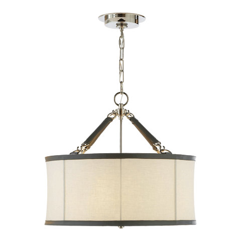Broomfield Small Pendant In Polished Nickel Ceiling Fixtures Lighting P