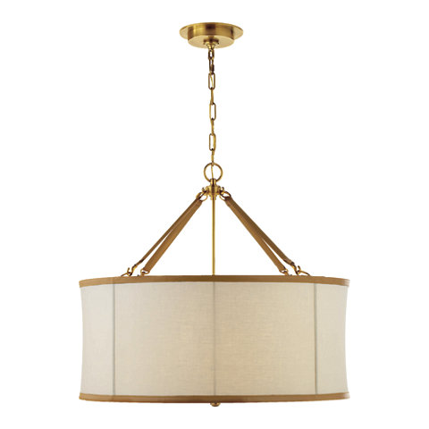 Broomfield Large Pendant In Natural Brass Ceiling Fixtures Lighting Pro