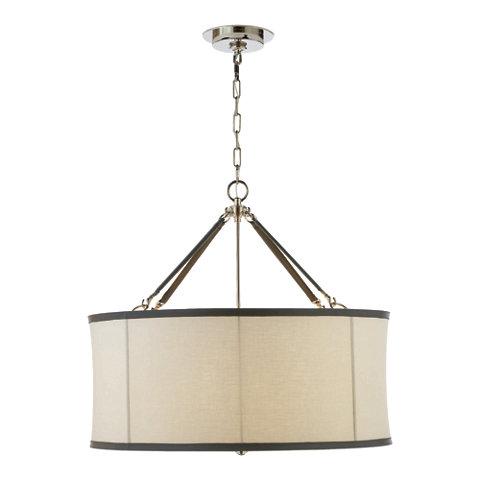 Broomfield Large Pendant In Polished Nickel Ceiling Fixtures Lighting P
