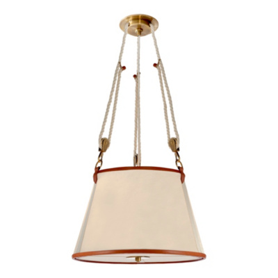 Miramar Medium Hanging Shade - Natural Brass