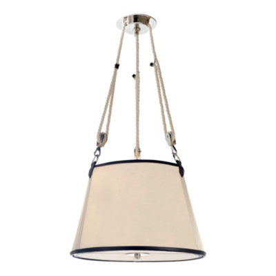 Miramar Medium Hanging Shade - Polished Nickel