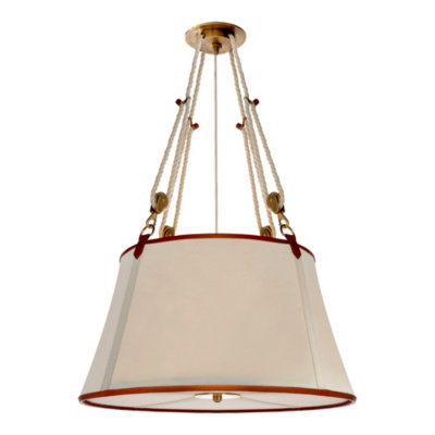 Miramar Large Hanging Shade - Natural Brass