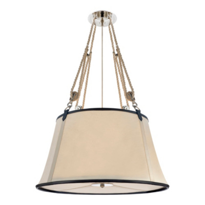 Miramar Large Hanging Shade - Polished Nickel