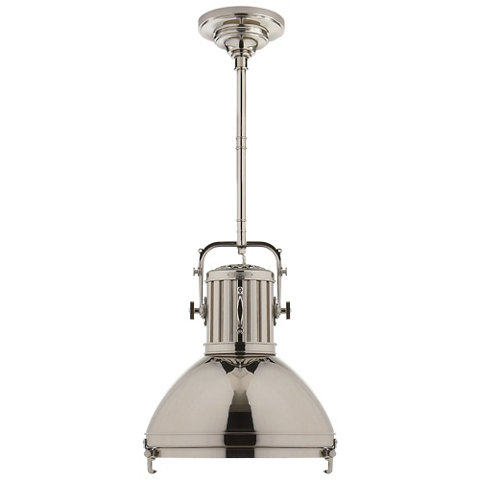 Montauk Small Pendant In Polished Nickel Ceiling Fixtures Lighting Prod
