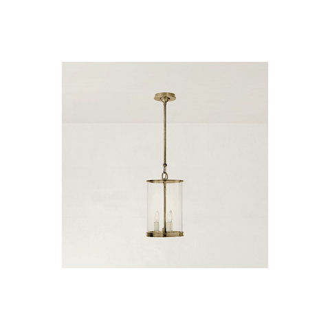 Modern Small Lantern In Natural Brass Ceiling Fixtures Lighting Product