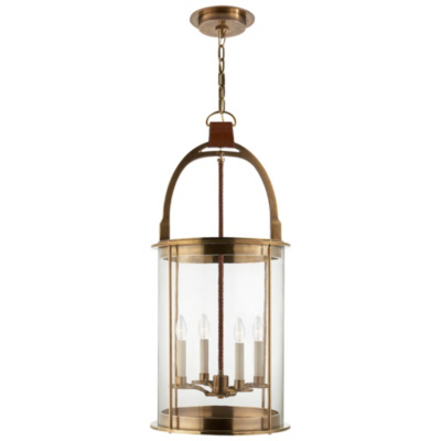 Westbury Lantern in Natural Brass