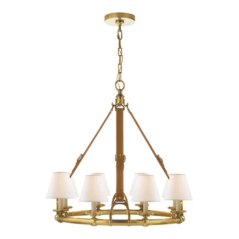 Westbury Chandelier In Natural Brass Ceiling Fixtures Lighting Products