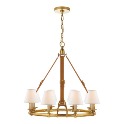 Westbury Chandelier in Natural Brass