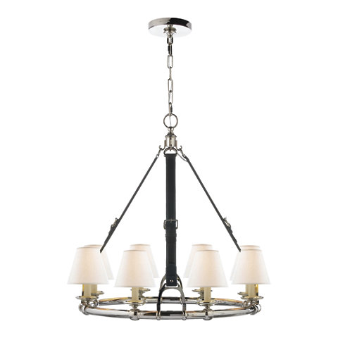 Westbury Chandelier In Polished Nickel Ceiling Fixtures Lighting Produc