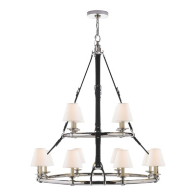 Westbury Double Tier Chandelier in Polished Nickel