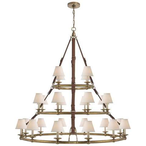 Westbury Triple Tier Chandelier In Natural Brass Ceiling Fixtures Lightin