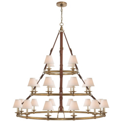 Westbury Triple Tier Chandelier in Natural Brass