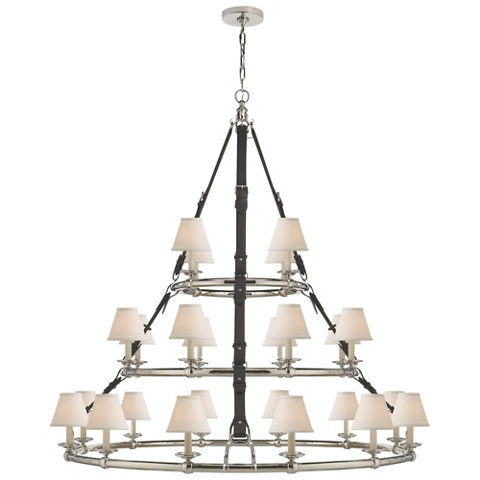 Westbury Triple Tier Chandelier In Polished Nickel Ceiling Fixtures Light