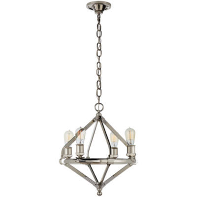 Archer Small Chandelier in Polished Nickel