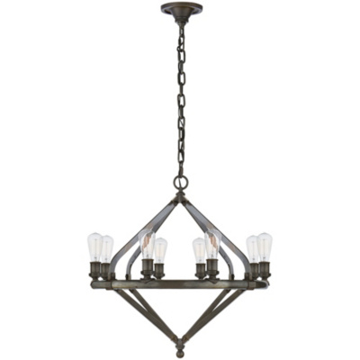 Archer Medium Chandelier in Industrial Steel