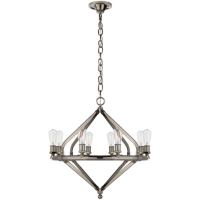 Archer Medium Chandelier in Polished Nickel