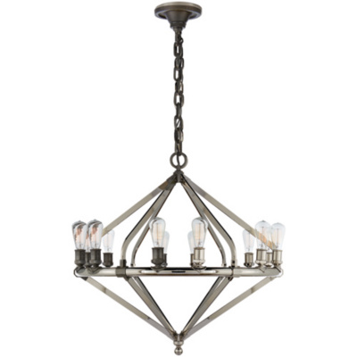 Archer Large Chandelier in Industrial Steel