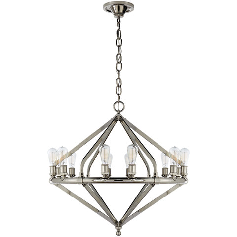 Archer Large Chandelier In Polished Nickel Ceiling Fixtures Lighting Pr