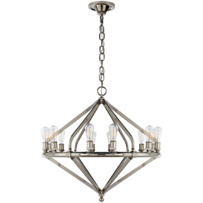 Archer Large Chandelier in Polished Nickel
