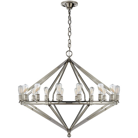 Archer Extra Large Chandelier In Polished Nickel Ceiling Fixtures Lightin