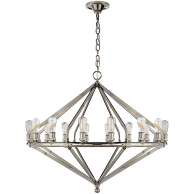 Archer Extra Large Chandelier in Polished Nickel