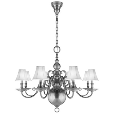 Lillianne Eight-Light Chandelier in Butler's Silver
