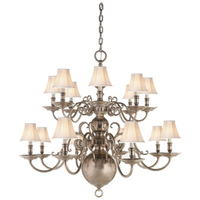 Lillianne Sixteen-Light Chandelier in Butler's Silver