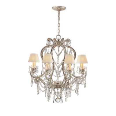 Adrianna Small Chandelier in Antique Silverleaf