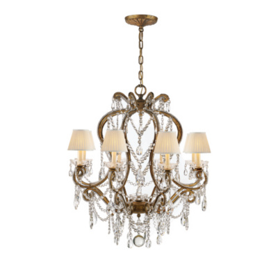 Adrianna Small Chandelier in Gilded Iron