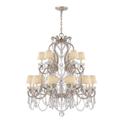 Adrianna Medium Chandelier in Antique Silverleaf