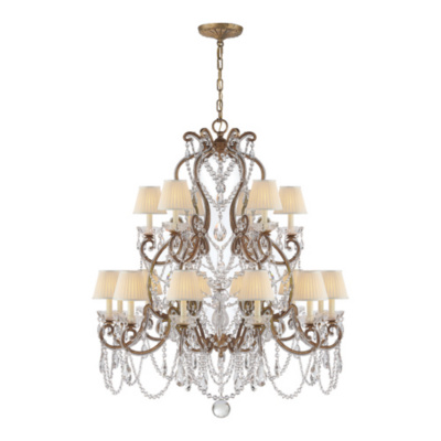 Adrianna Medium Chandelier in Gilded Iron