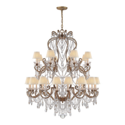 Adrianna Large Chandelier in Gilded Iron