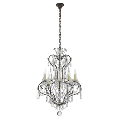 Alessandra Small Chandelier in Antiqued Gild
