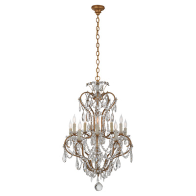 Alessandra Small Chandelier in Gilded Iron