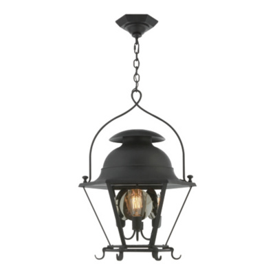 Cranbrook Small Lantern in Black Rust
