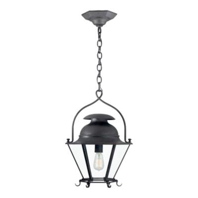 Cranbrook Small Hanging Lantern in Black Rust