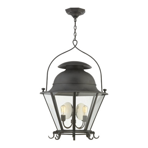 Cranbrook Large Lantern In Black Rust Ceiling Fixtures Lighting Product