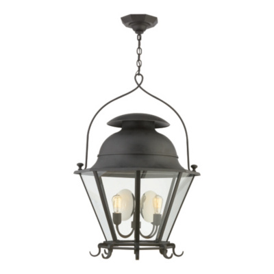 Cranbrook Large Lantern in Black Rust